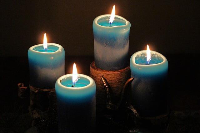 velas azules para el amor
