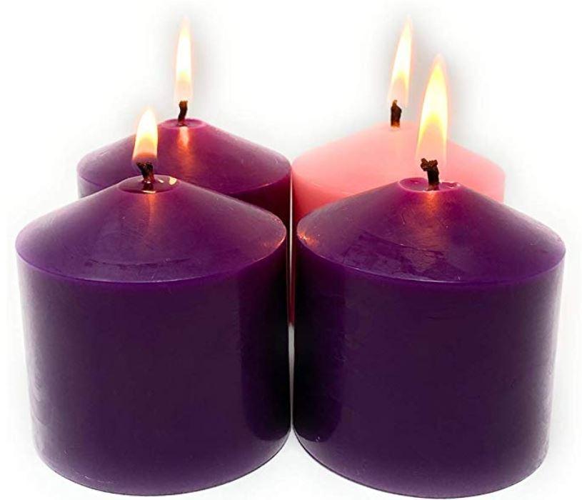 velas color lila