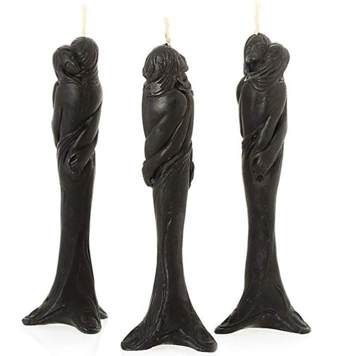 2 velas negras
