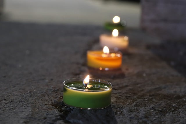 velas verdes para el dinero